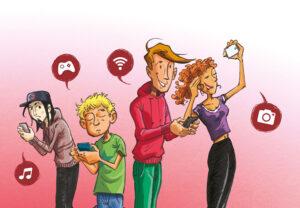 Accro au smartphone